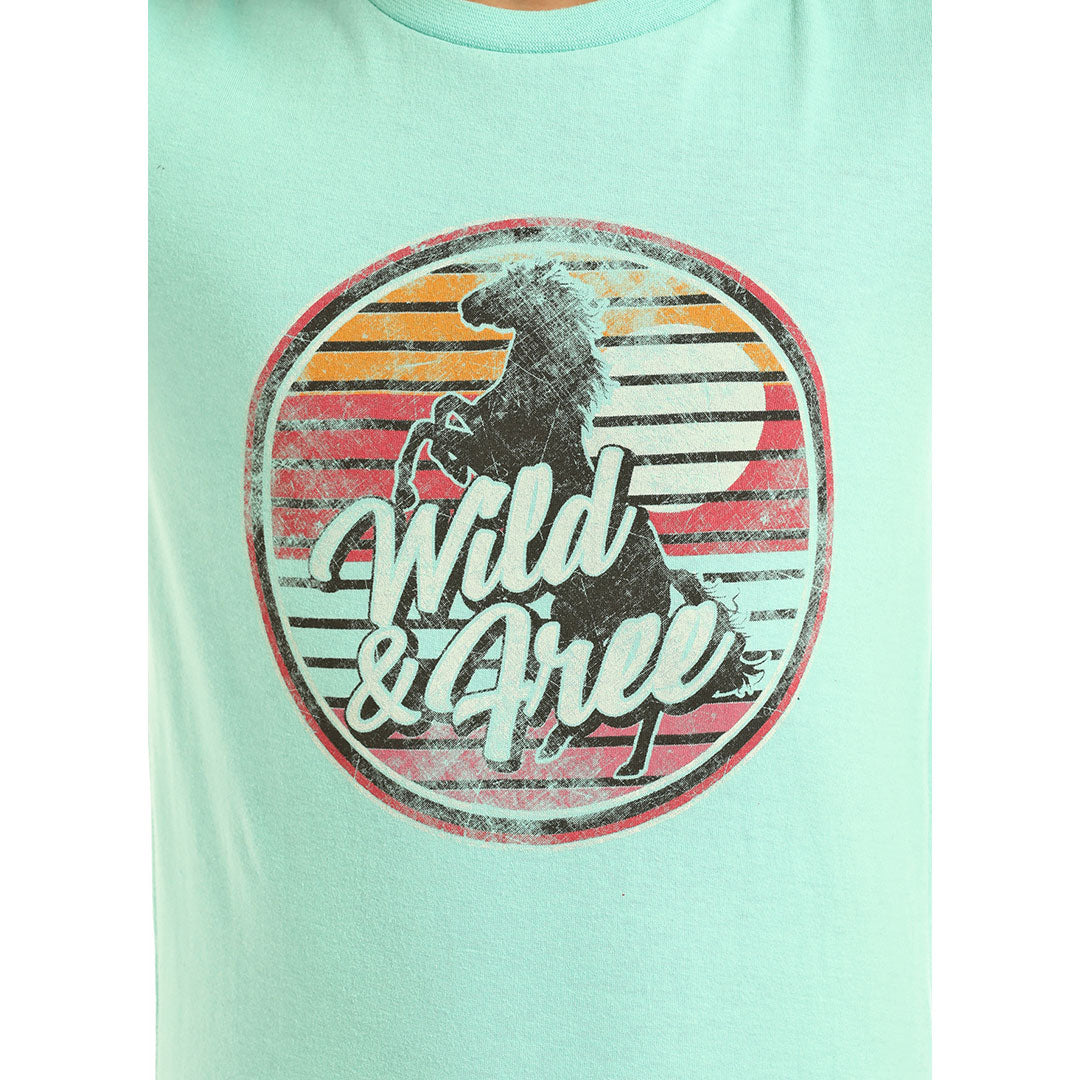 7363b599 Rock & Roll Cowgirl Wild And Free Graphic T-Shirt | Girl's T-Shirt ...