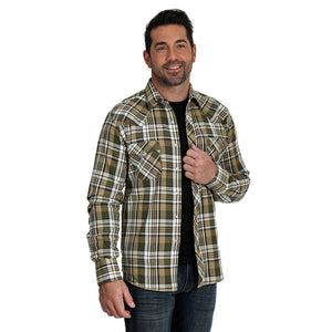 Wrangler Retro® Premium Plaid Flannel Mens Shirt