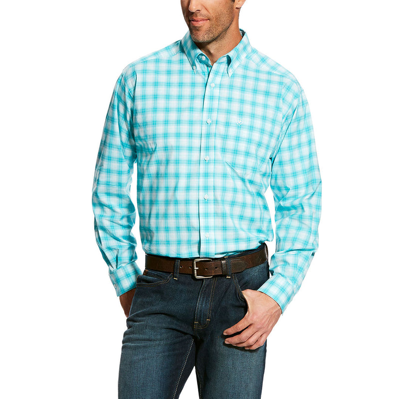 Ariat Harry Turquoise Plaid Shirt
