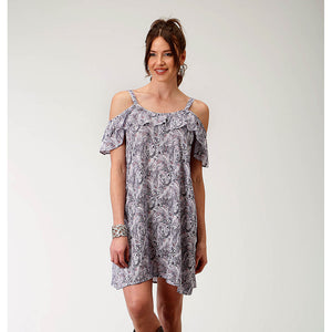 Roper Blue Paisley Dress