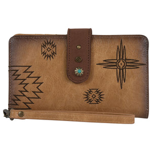Catchfly Angel Fire Burnished Tan Womens Wallet