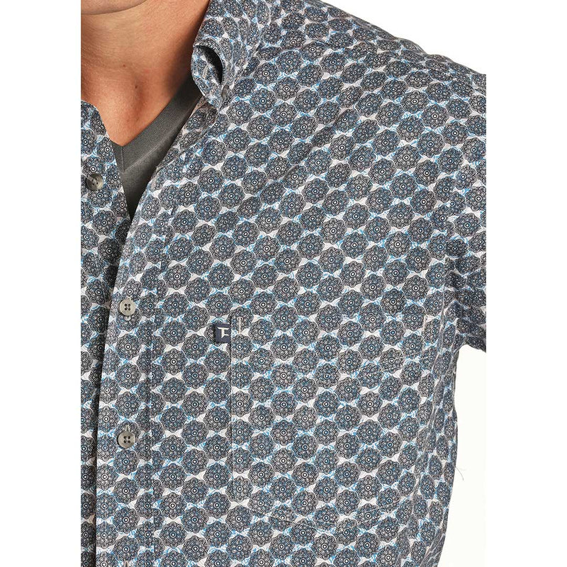 Tuf Cooper Men's Geometric Print Shirt