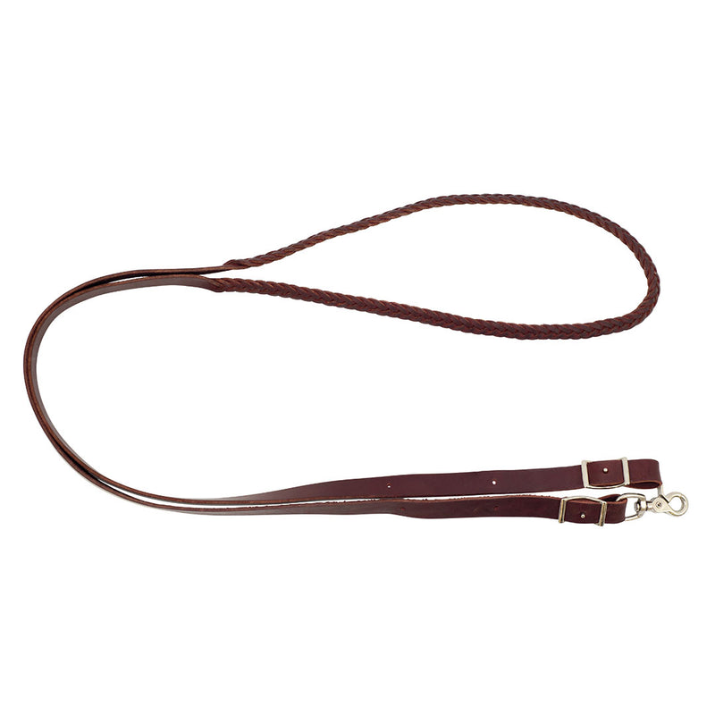 Wildfire Saddlery 5 Plait Leather Roping Reins