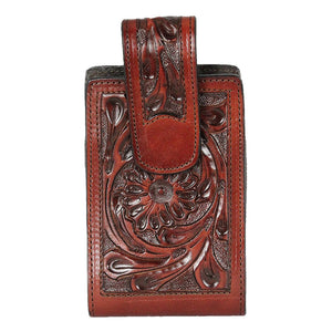 PRVT Label Floral Tooled Leather Cell Case