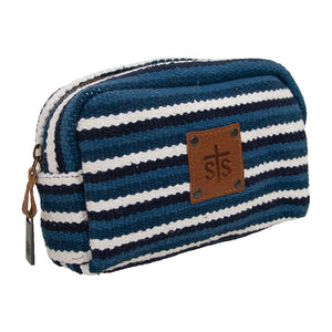 STS Ranchwear Durango Blue & White Cosmetic Bag