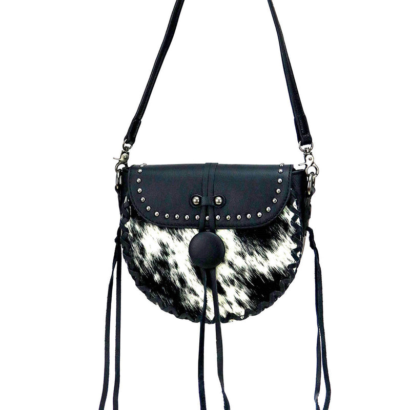 Montana West Cowhide Leather Crossbody Bag