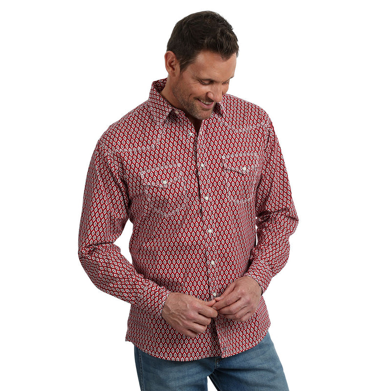 Wrangler® 20X® Red Print Shirt