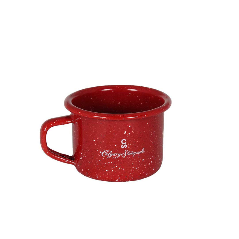 Red Enamel 4 oz. Calgary Stampede Mini Mug