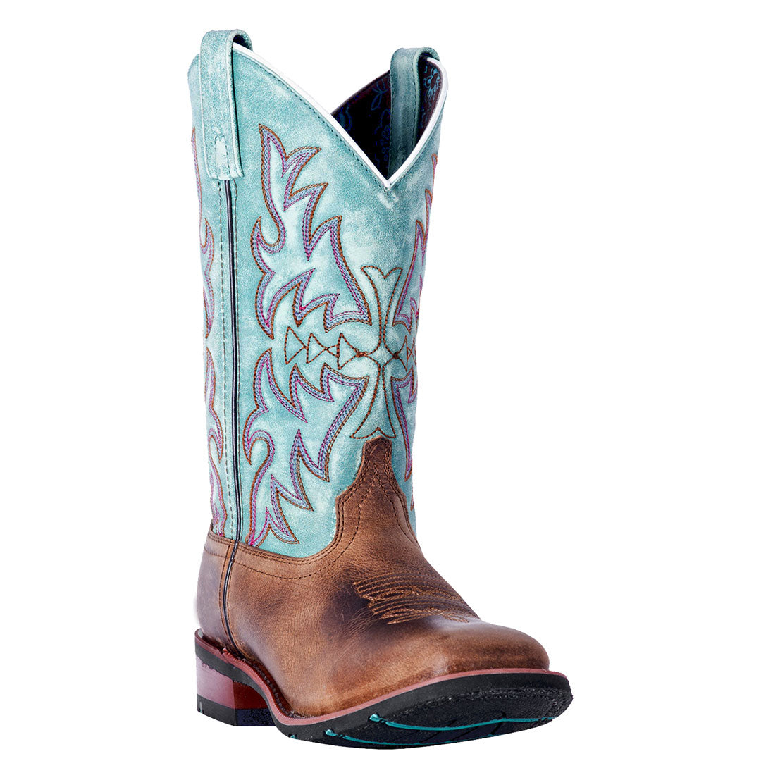 Laredo Anita Blue & Brown Cowgirl Boots