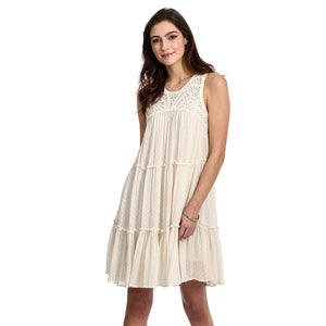 Wrangler Sleeveless Crochet Dress