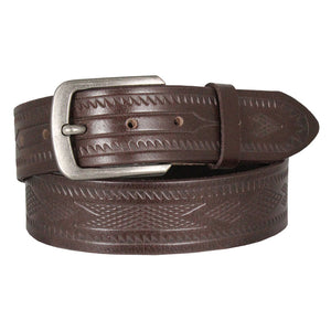 Cowboy Collection Men's Aztec Tooled Leather Belt