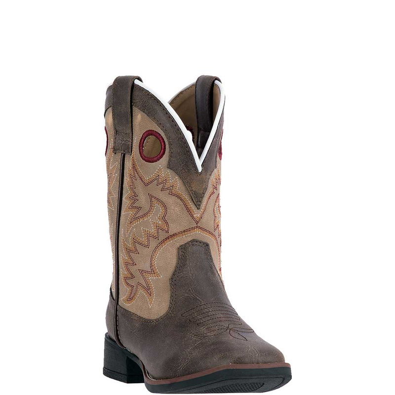 Laredo Boy's Collared Square Toe Cowboy Boots