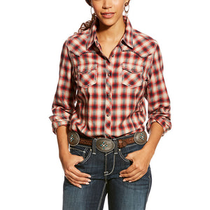 Ariat REAL Marvelous Snap Red Plaid Shirt