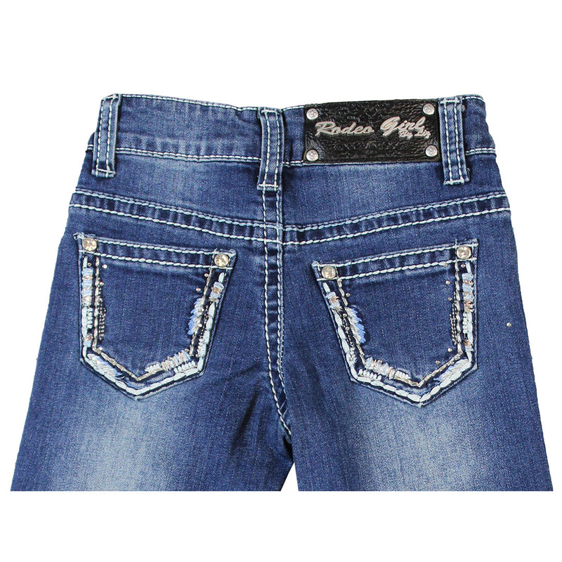 Rodeo Girl Girl's Border Embroidery Jeans