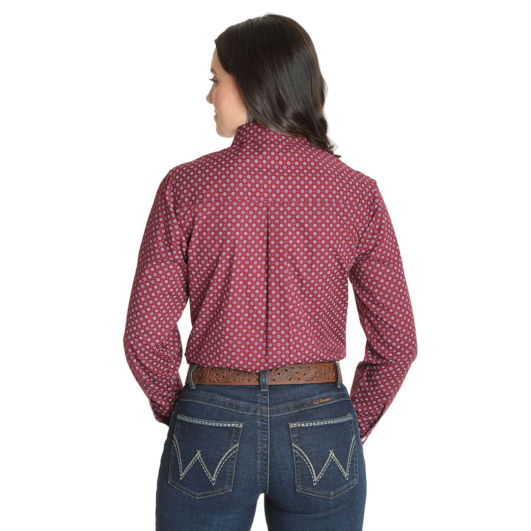 George Strait for Her Medallion Print Women's Burgundy Shirt
