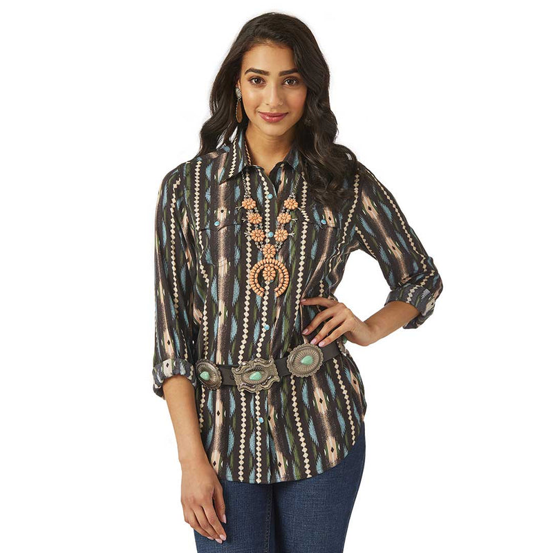 Wrangler Women's Retro Drapey Checotah Shirt