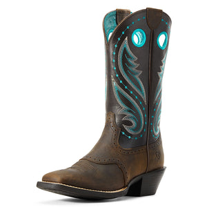 Ariat Round Up Melrose Distressed Brown Cowgirl Boots