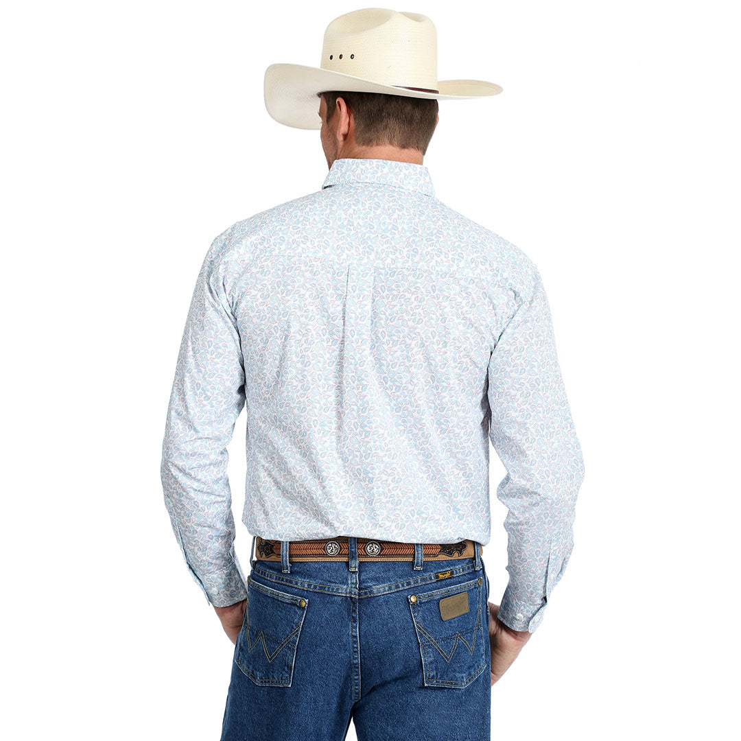 George Strait Red White & Blue Paisley Shirt