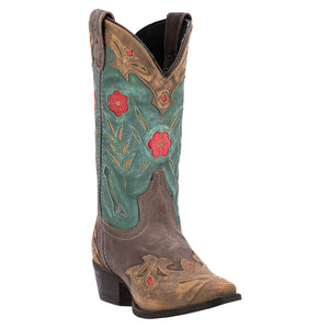 Laredo Miss Kate Green Floral Cowgirl Boot
