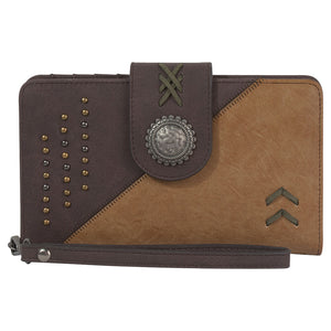 Catchfly Shelby Brown Tonal Womens Wallet