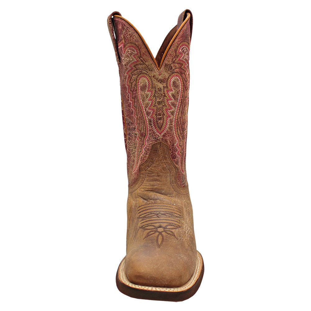 Dan Post Distressed Cognac & Fuchsia Cowgirl Boots