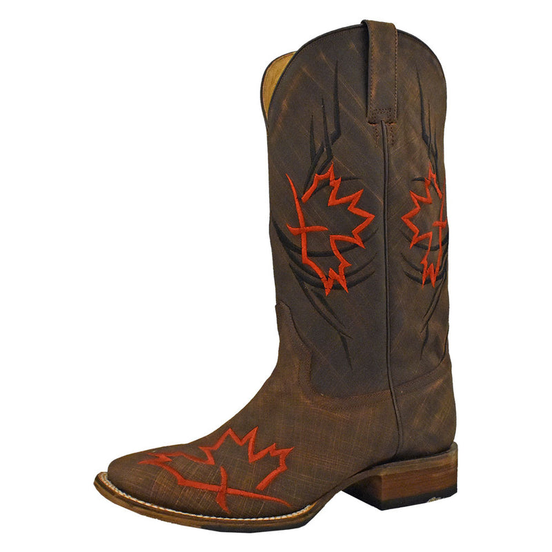 Roper Maple Leaf Embroidered Cowboy Boots
