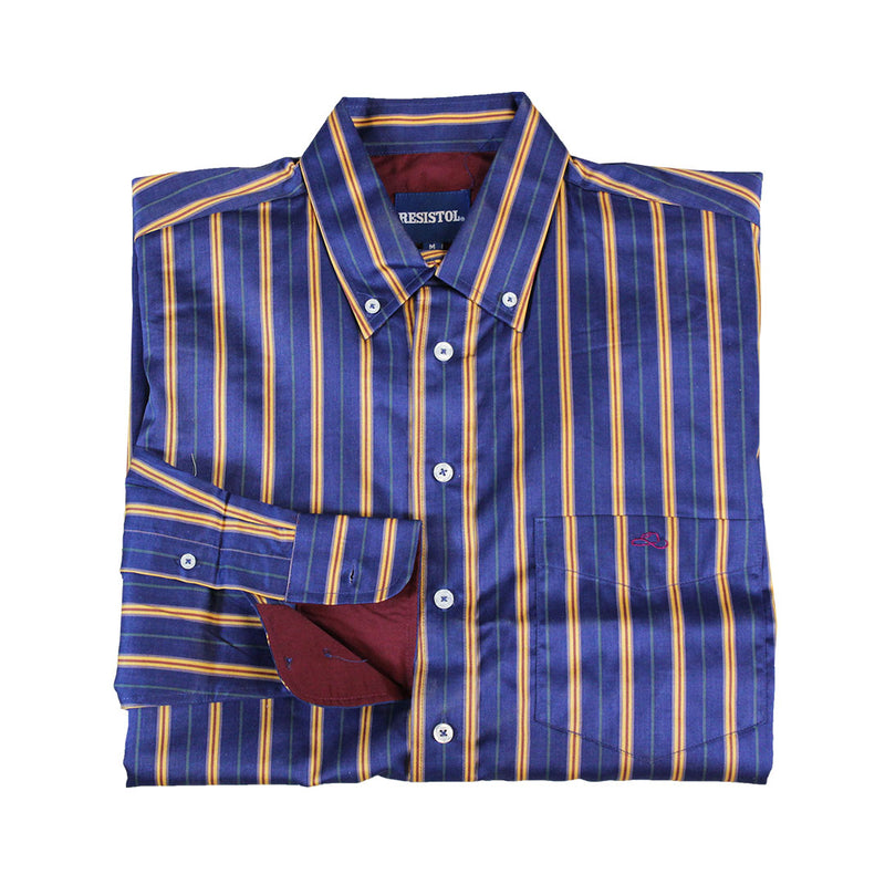 Resistol Brush Button Stripe Pattern Shirt