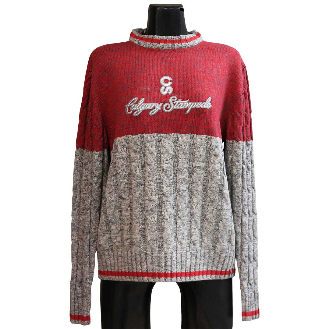 Work Sock Cable Knit Calgary Stampede Sweater