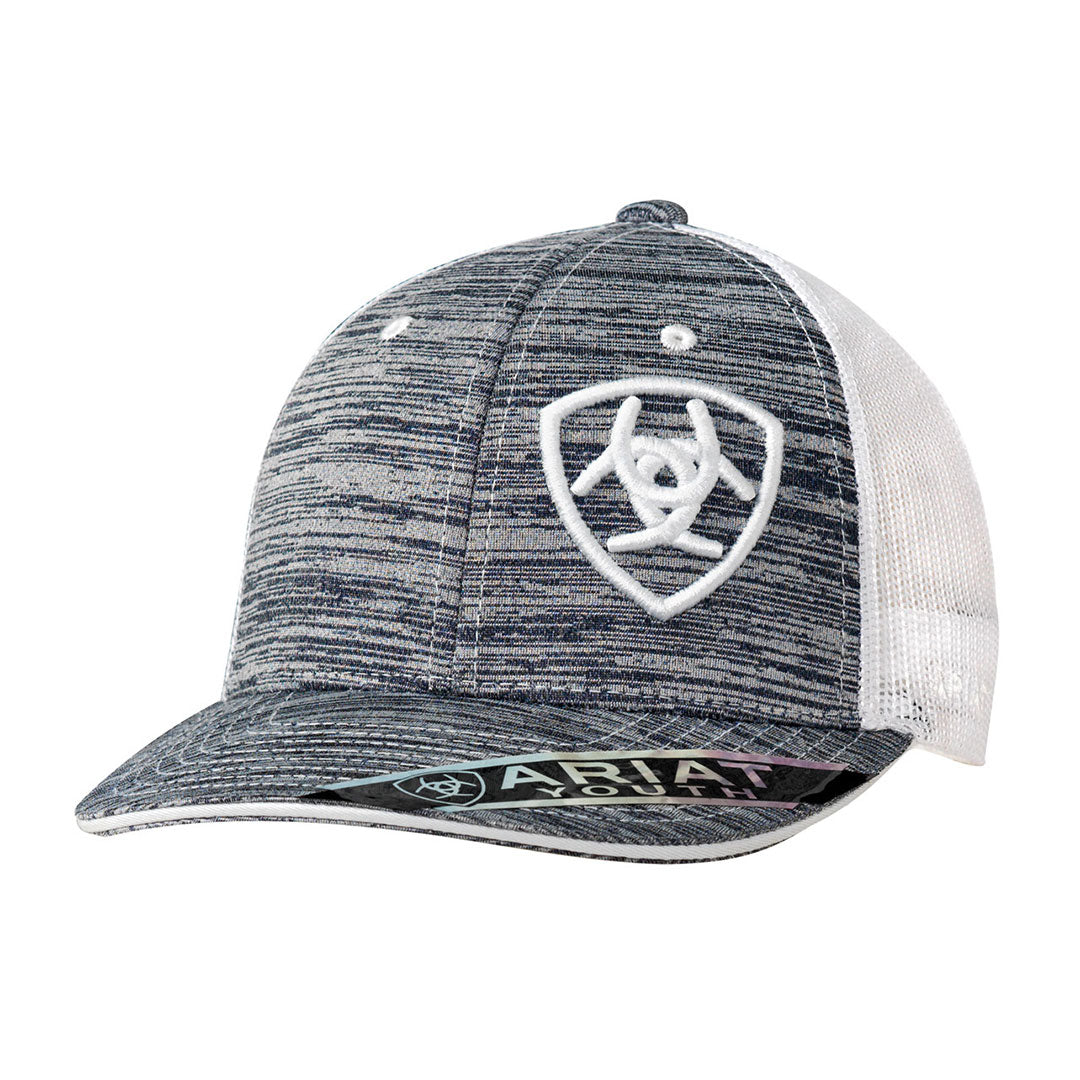 Ariat Grey & White Youth Snap Back Cap