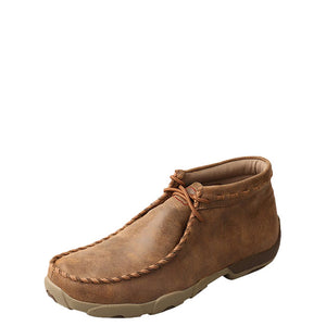 Twisted X Bomber Spiral Trim Mens Driving Moccasin Shoe