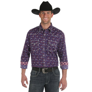 Wrangler® 20X®  Advanced Comfort Filigree Print Shirt