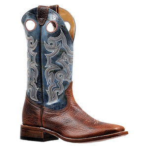 Boulet North American Bison Blue Cowboy Boots