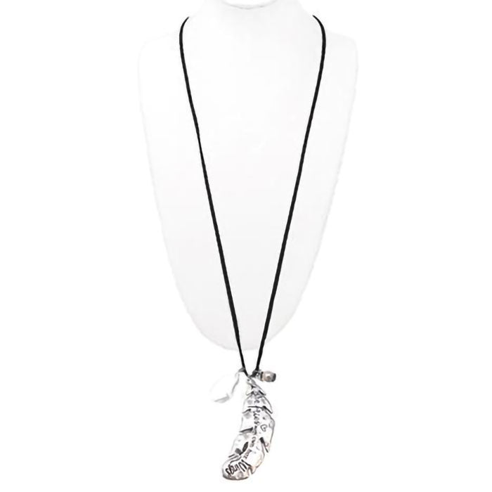 Cindy Smith Silver Feather Necklace