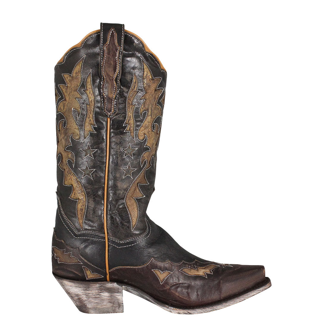 Dan Post Amelia Black & Brown Cowgirl Boots