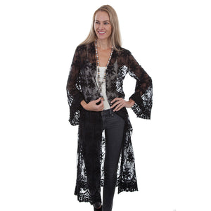 Scully Black Lace Duster