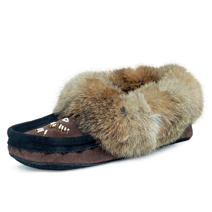 Laurentian Chief Chocolate & Black Women's Moccasin