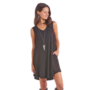 Panhandle Black Tank Dress
