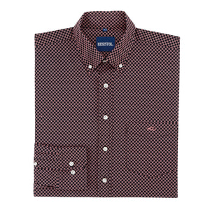 Resistol Ten Sleep Button Diamond Print Shirt