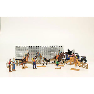 Bigtime Rodeo Truck & Trailer with Rodeo Figurines Set