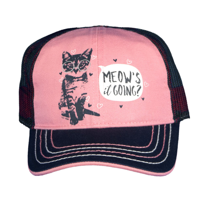 Farm Girl Toddler Meow's It Going Cap
