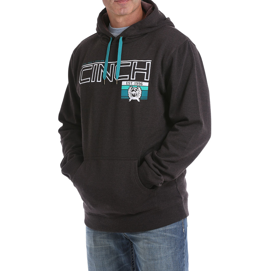 Cinch Logo Chocolate Brown Mens Hoodie