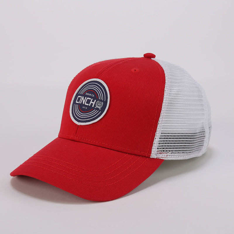 Cinch Red Logo Trucker Cap