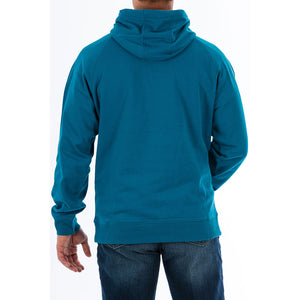 Cinch Blue Graphic Fleece Hoodie