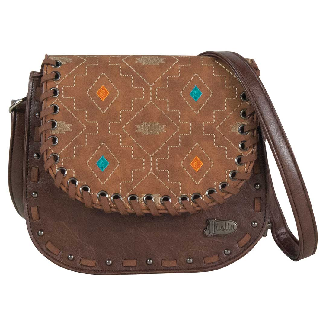 Justin Cross body Embroidered Purse