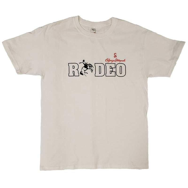 Calgary Stampede Rodeo Screenprint White Tee