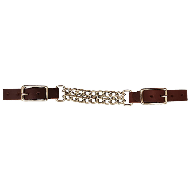 Alamo Saddlery Latigo Double Chain Curb