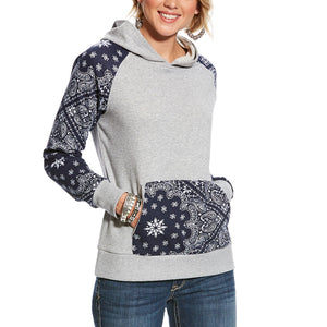 Ariat  R.E.A.L.™ Heather Grey Paisley Hoodie