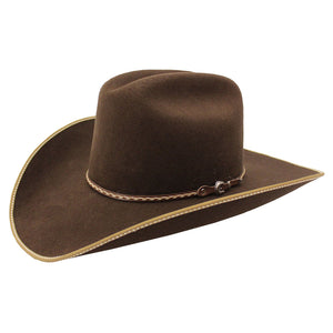 Master Hatters Nickleback 3X Brown Felt Cowboy Hat  e6b00591013