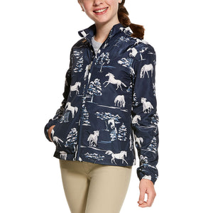 Ariat Laurel Shadow Pasture Print Girl's Blue Jacket