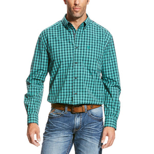 Ariat Vadell Teal Plaid Shirt